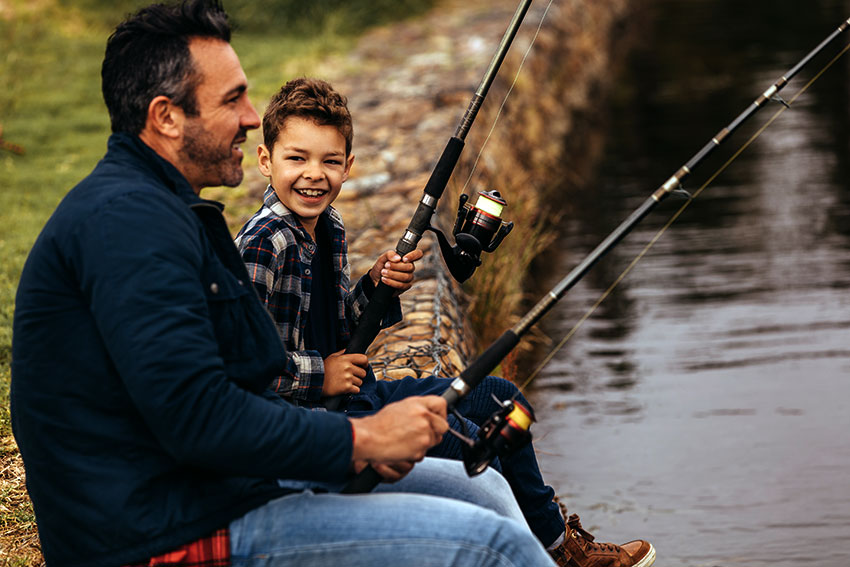 fishing rods for beginners father and son fshing